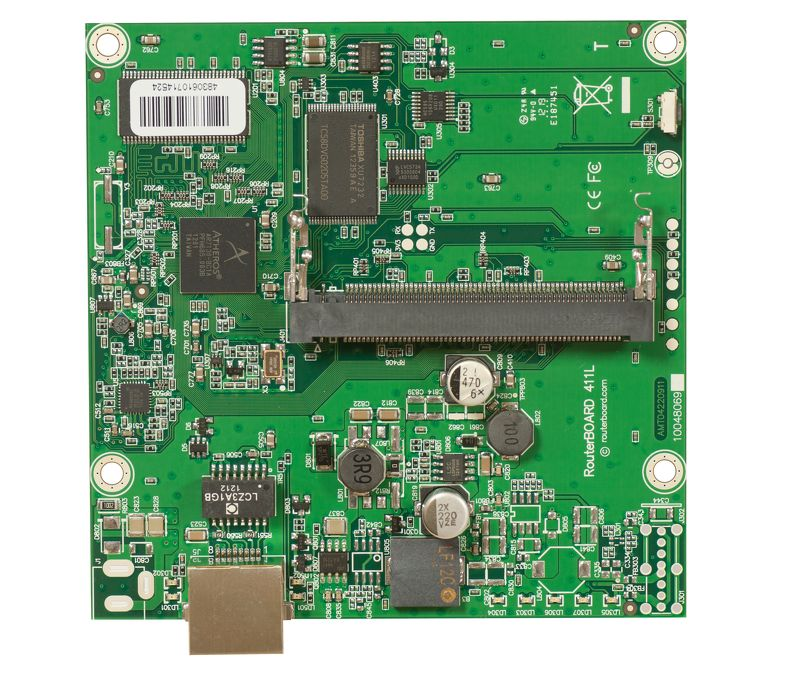 RouterBoard RB411L 300MHz CPU, 32MB RAM, 1xEthernet, miniPCI, RouterOS L3