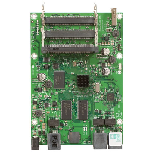 RouterBoard RB433UL 400MHz CPU, 64MB RAM, 3xEthernet, 3x miniPCI, USB, RouterOS L4