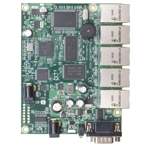 RouterBoard RB450 300MHz CPU, 32MB RAM, 5xEthernet, RouterOS L5